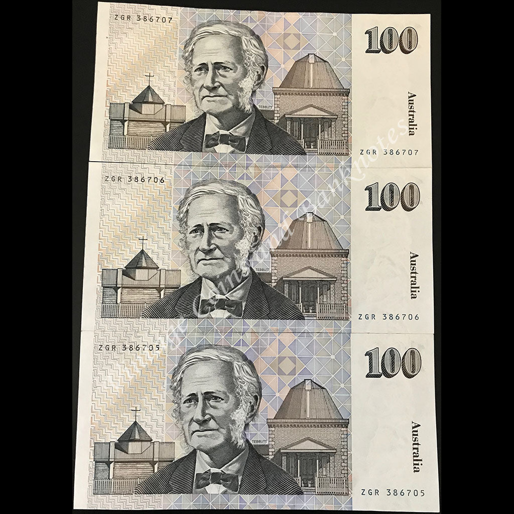 1990 Fraser Higgins $100 Consecutive Run of 3 UNC