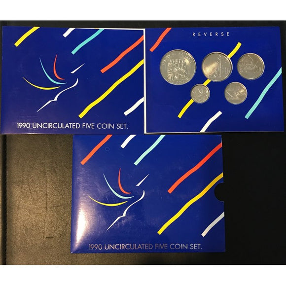 1990 New Zealand Mint Coin Set