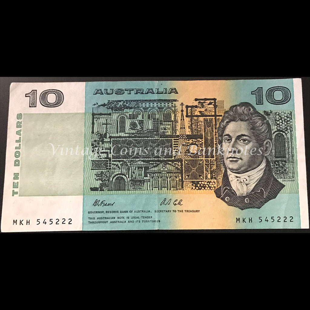 1991 Fraser Cole $10 without Plate Letter gVF/aEF