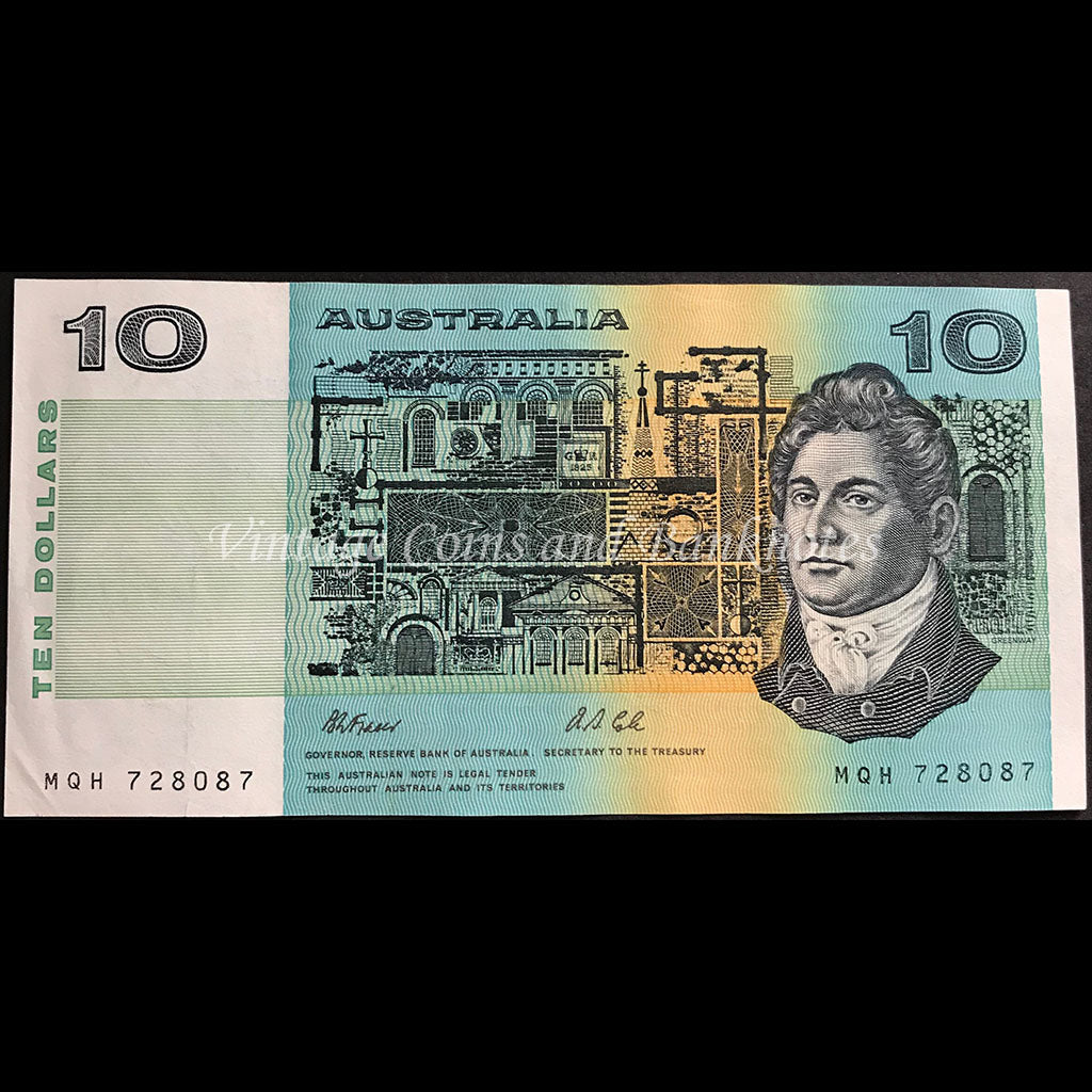 1991 Fraser Cole $10 without Plate Letter EF