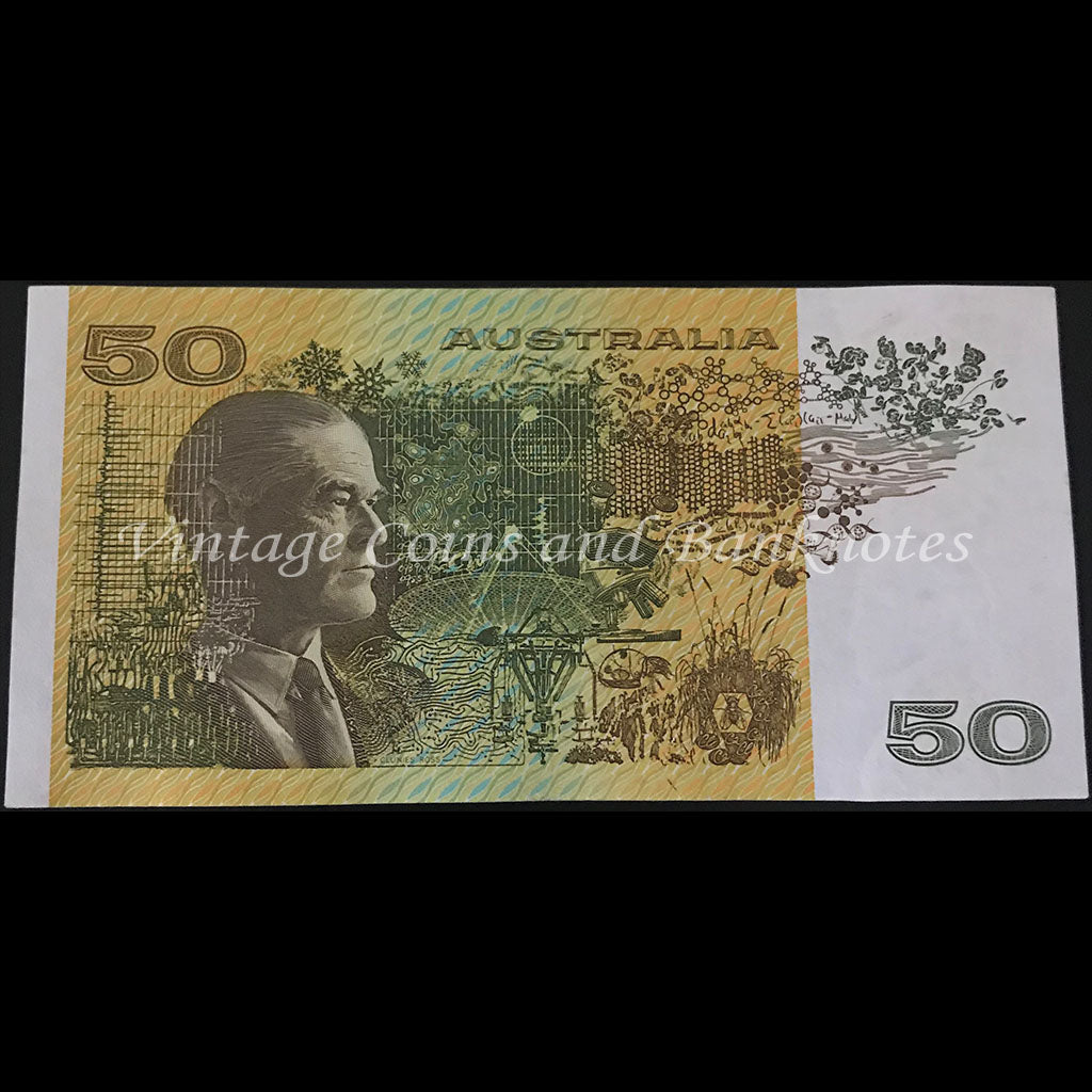 1991 Fraser Cole $50 without Plate Letter gEF
