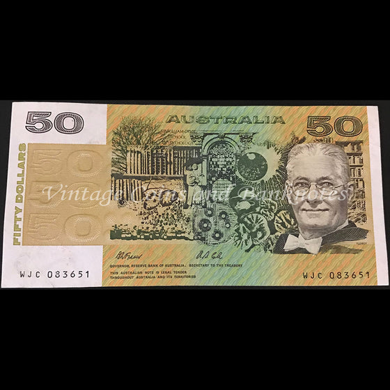 1991 Fraser Cole $50 without Plate Letter EF