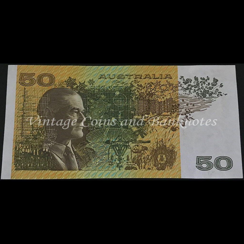 1991 Fraser Cole $50 without Plate Letter aUNC+