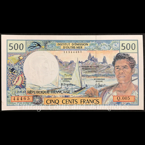 French Pacific Territories ND (1992) 500 Francs