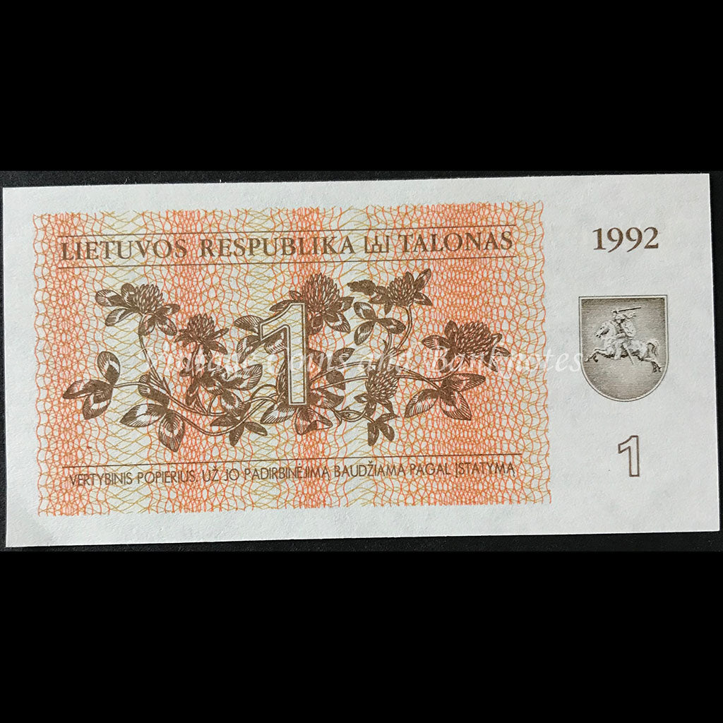 Lithuania 1992 1 Talonas