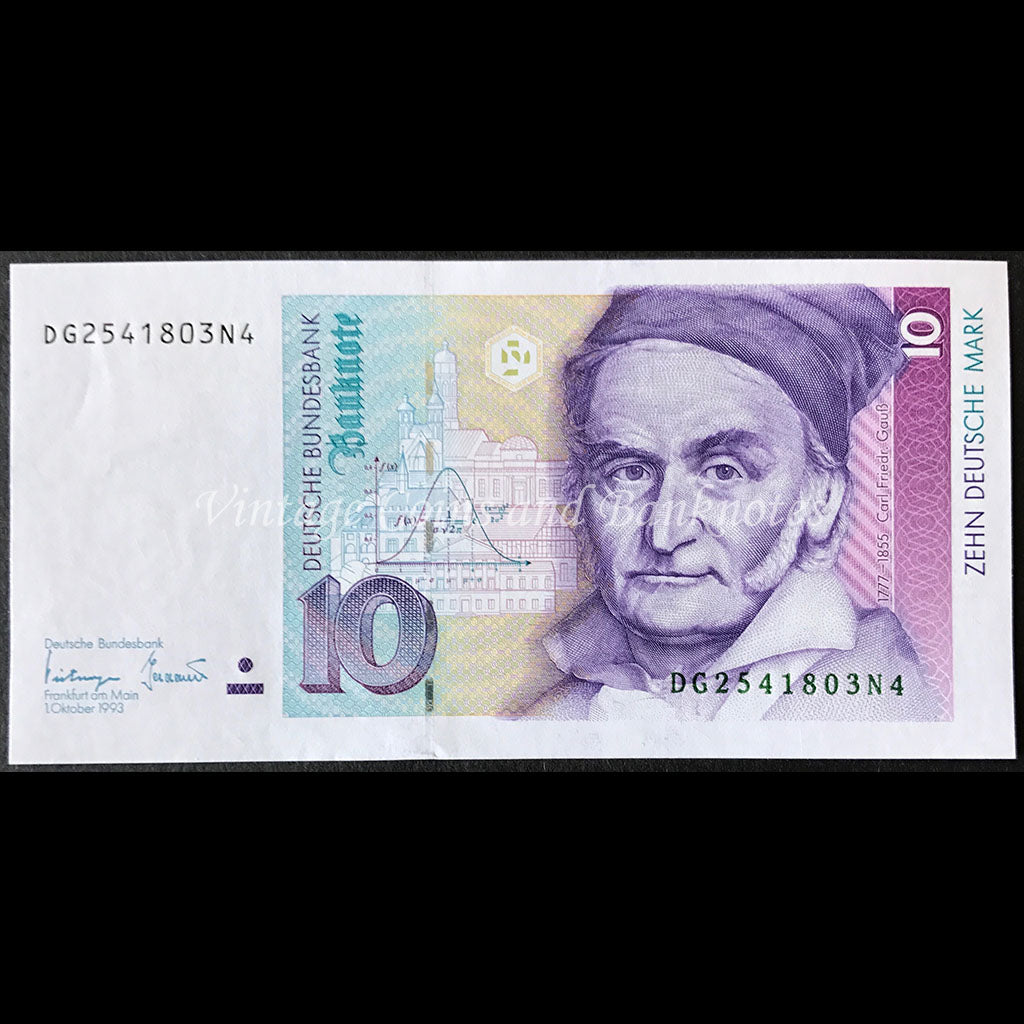 Germany, Federal Republic 1993 10 Deutsche Mark