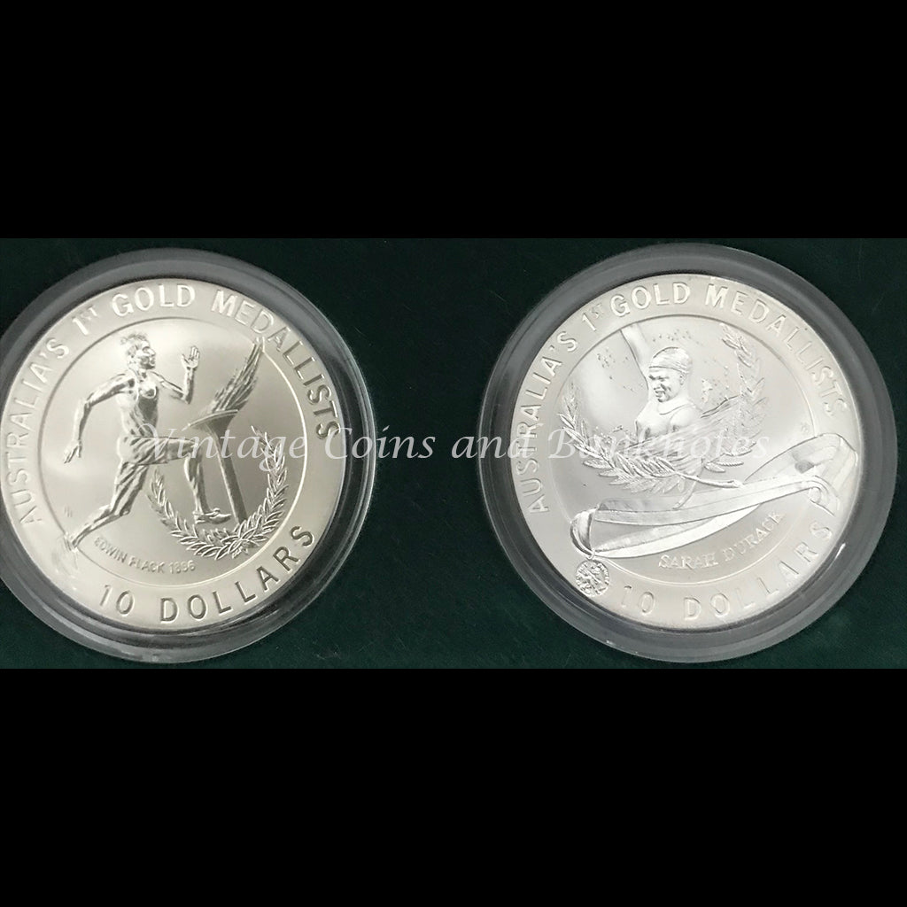 Australia's Olympic Heritage Series 1994-1996 Proof $10 Coin Set (partial set)
