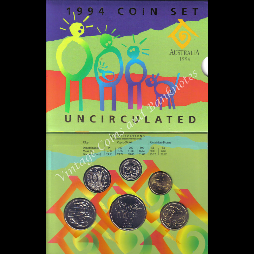 1994 Six Coin Mint Set