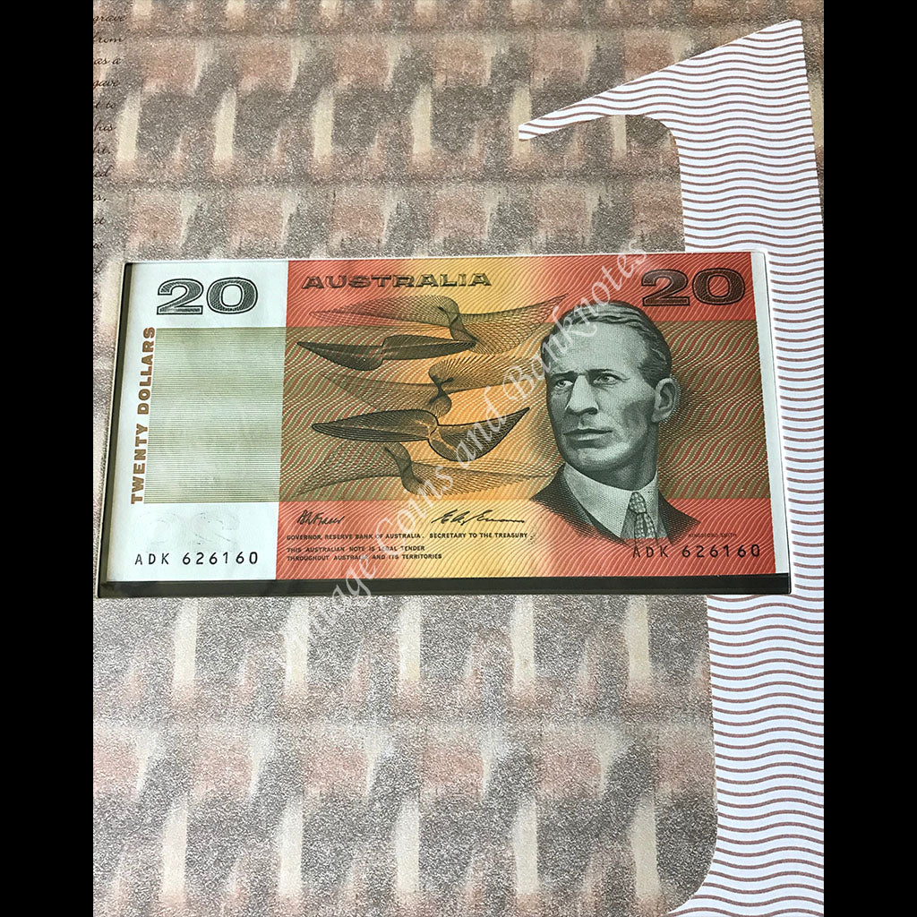 1994 $20 Hargrave Centenary Note and Stamps Set Last Prefix ADK