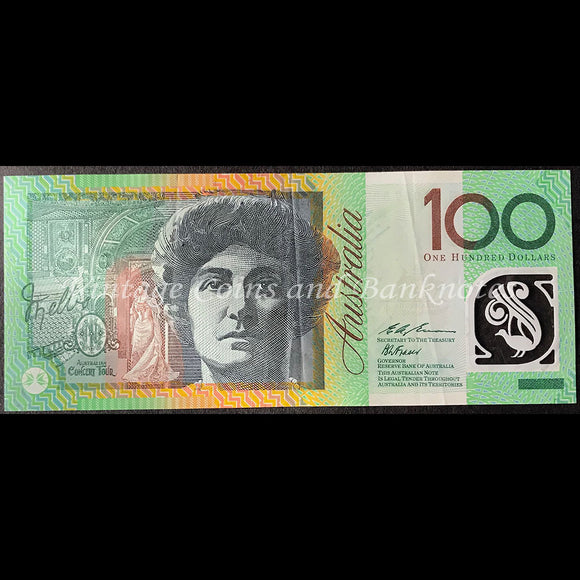 1996 Fraser Evans $100 First Test Note Prefix AN96 EF