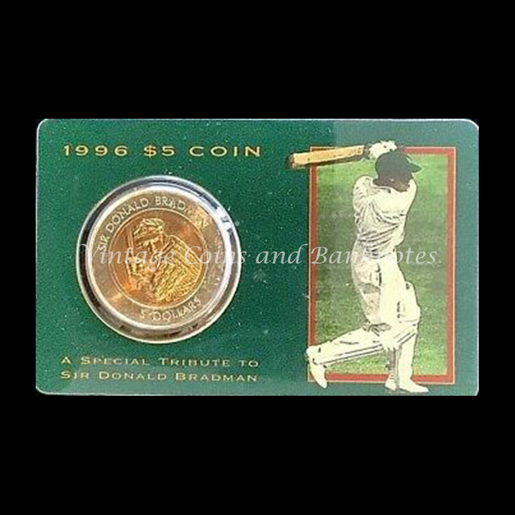 1996 $5 Coin Tribute to Sir Donald Bradman UNC