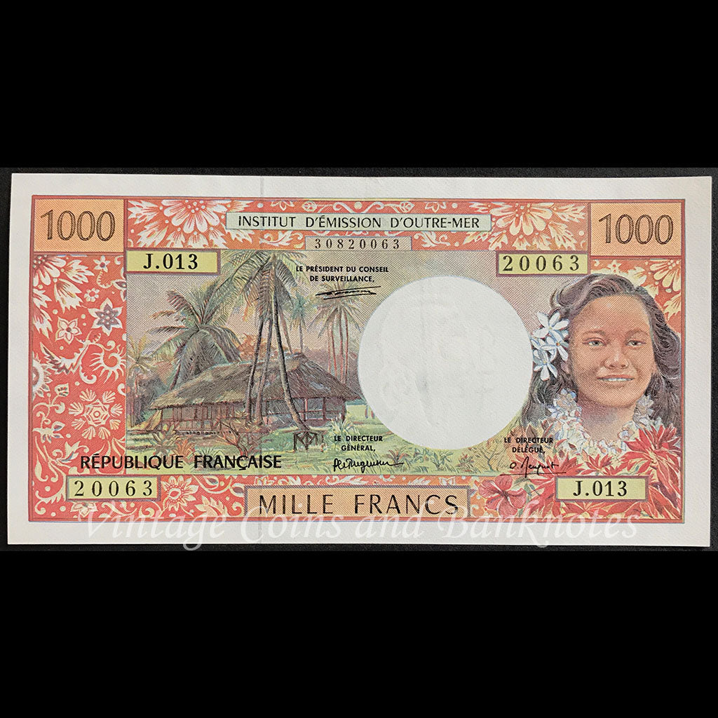 French Pacific Territories ND (1996) 1000 Francs