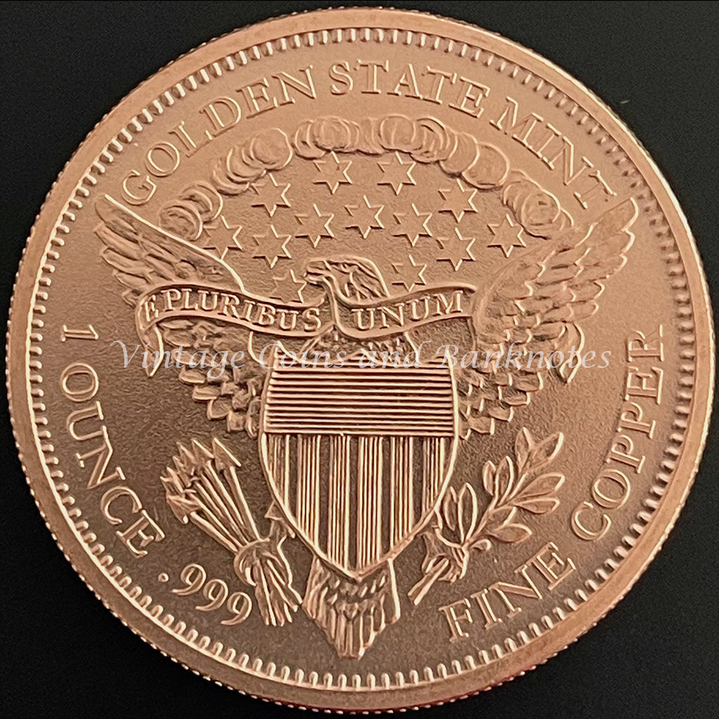 Copper Bullion Coin 1 oz (.999) Reproduction of the USA Morgan Dollar