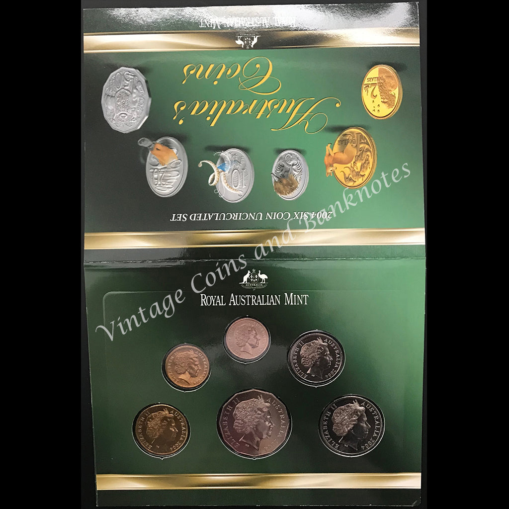 2004 Six Coin Mint Coin Set