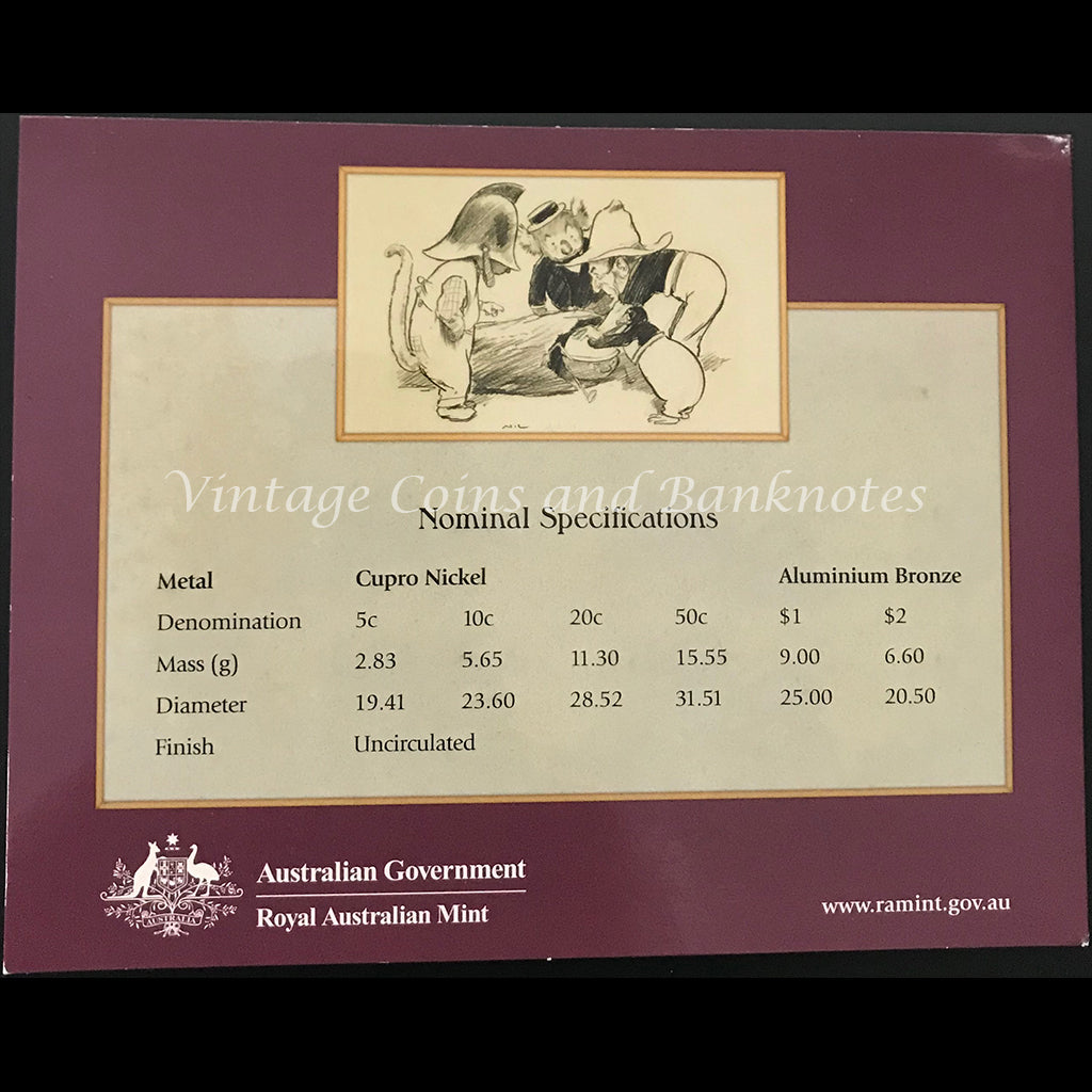 2008 Baby Mint Coin Set - The Magic Pudding by Norman Lindsay