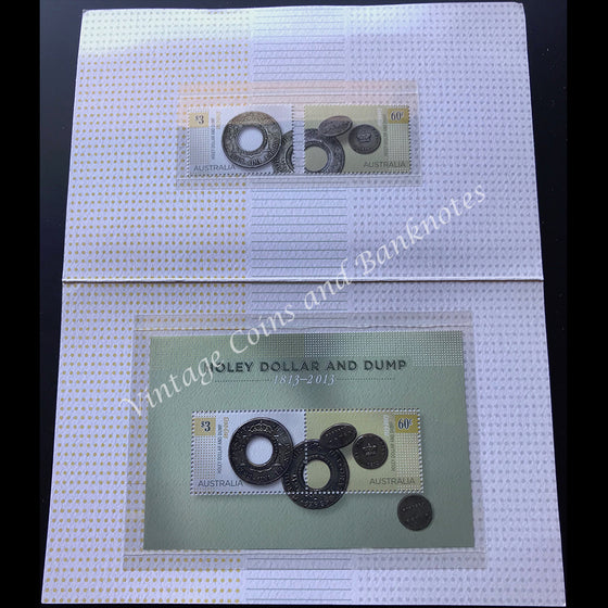 1813-2013 Australian Holey Dollar and Dump Stamp Set