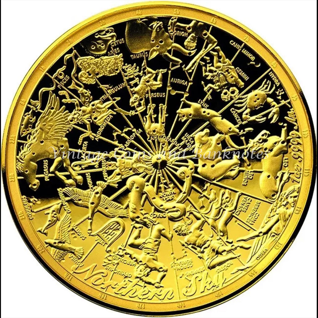 2017 Celestial Dome- Northern Sky $100 .9999% Gold Proof Domed Coin