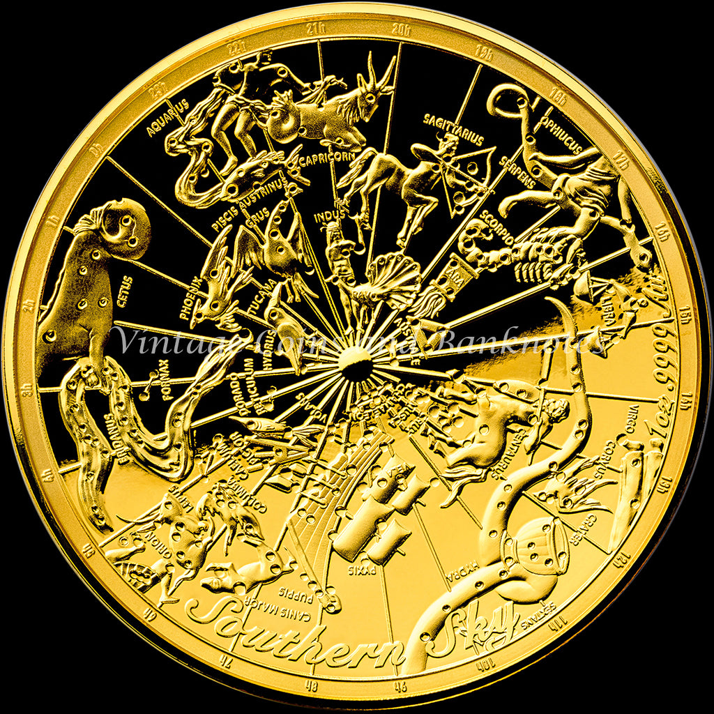 2017 Celestial Dome- Southern Sky $100 .9999% Gold Proof Domed Coin