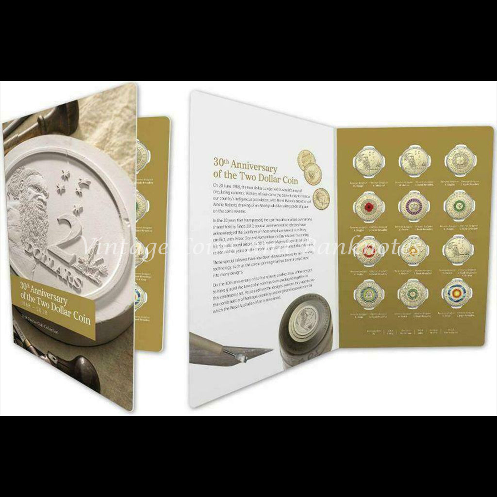 2018 30th Anniversary of the Two Dollar Coin (Twelve Coin Collection) Mint Set UNC
