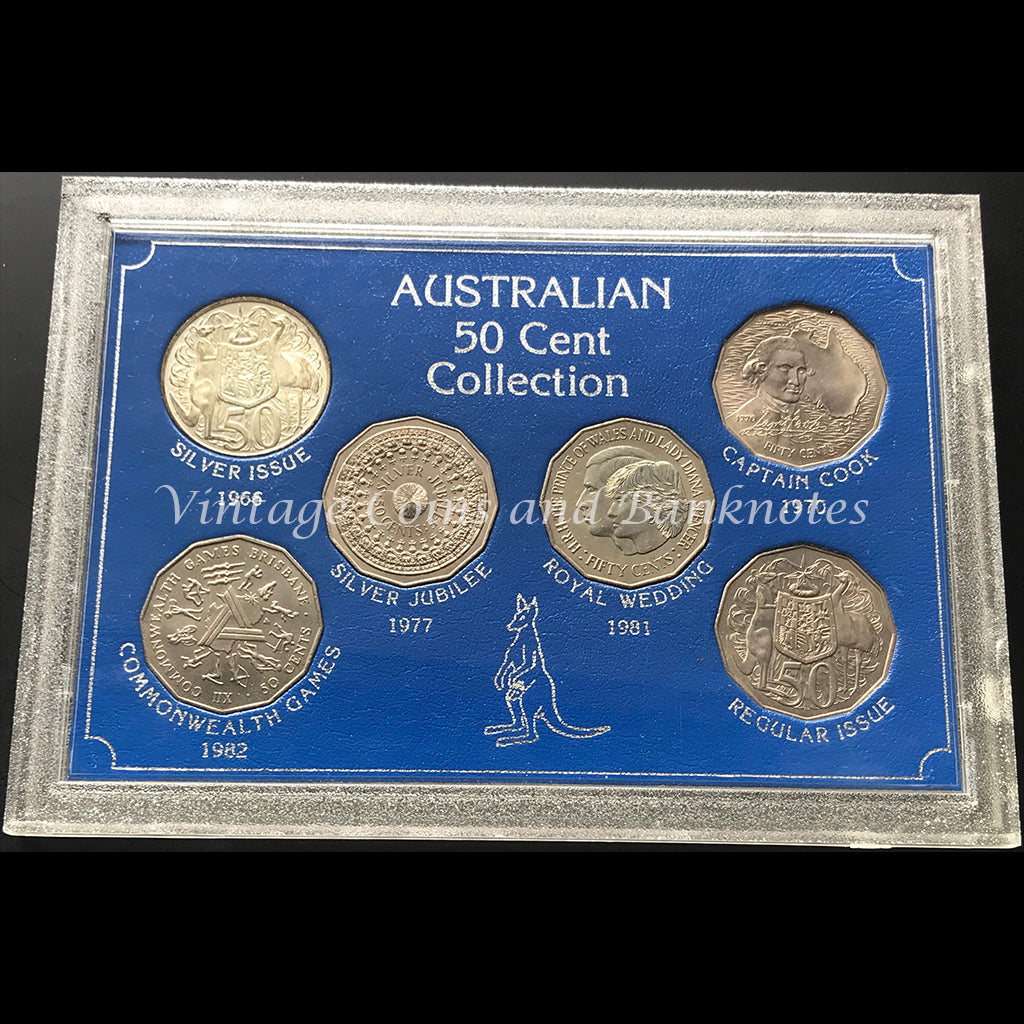 1966, 1970, 1977, 1981, 1982 and Regular 1981 Issue - Australian 50 Cent Collection