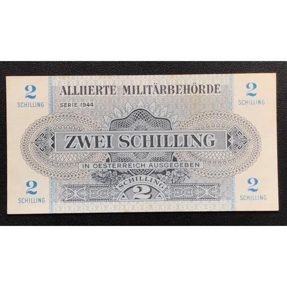 Allied Occupation Currency WWII - Austria 1944 2 Schilling