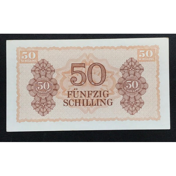 Allied Occupation Currency WWII - Austria 1944 50 Schilling