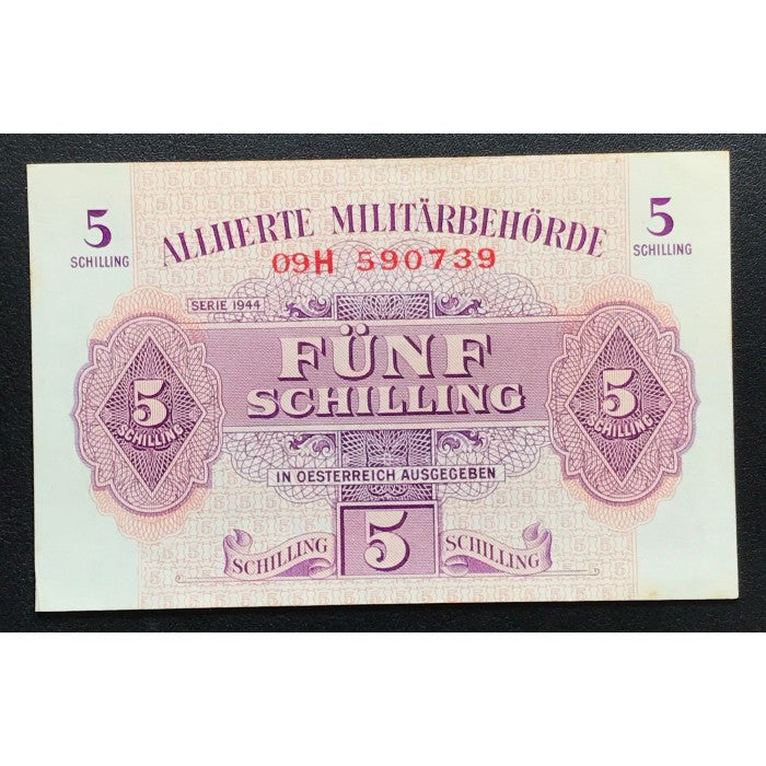 Allied Occupation Currency WWII - Austria 1944 5 Schilling