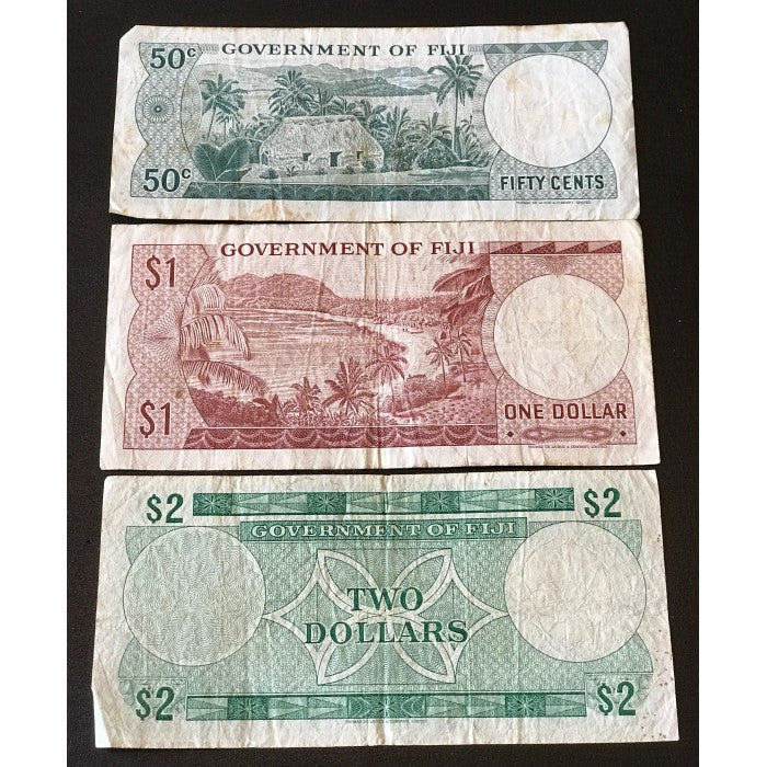Fiji ND (1971) 50c, $1, $2 Set