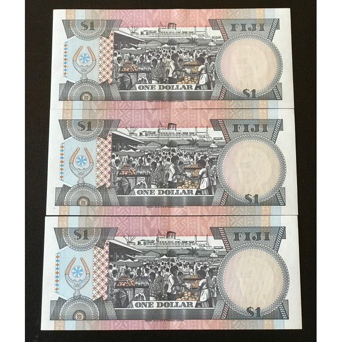 Fiji ND (1983) $1 Consecutive Run of 3