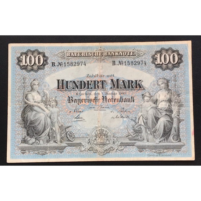 Germany 1900 Bayerische Notenbank 100 Mark