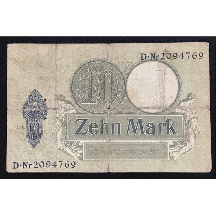 Germany 1906 Reichskassenschein 10 Mark