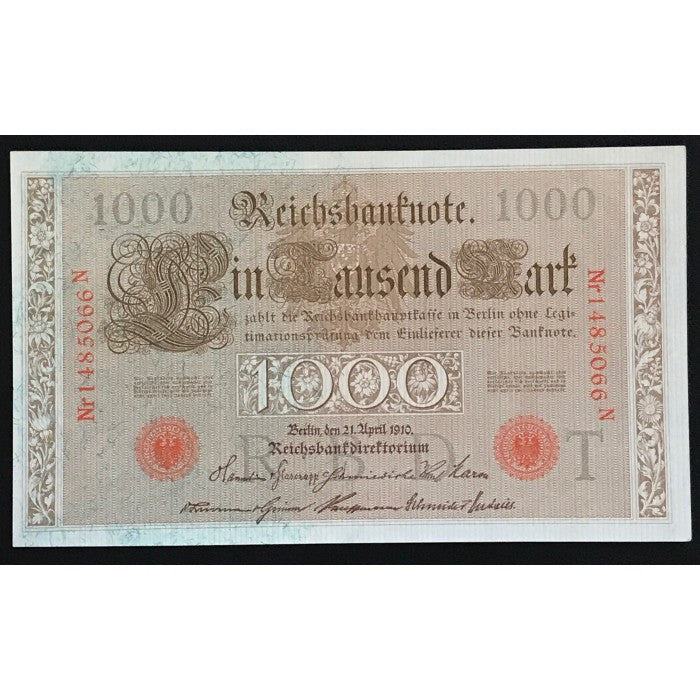 Germany 1910 Reichsbanknote 1000 Mark
