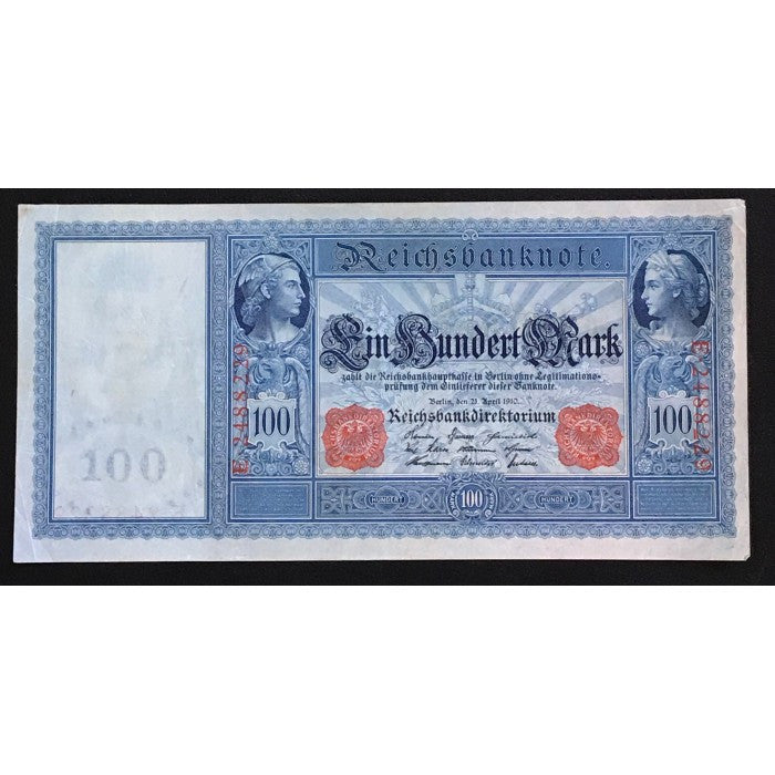 Germany 1910 Reichsbanknote 100 Mark