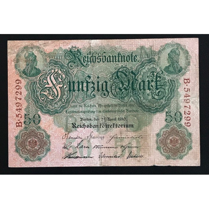 Germany 1910 Reichsbanknote 50 Mark