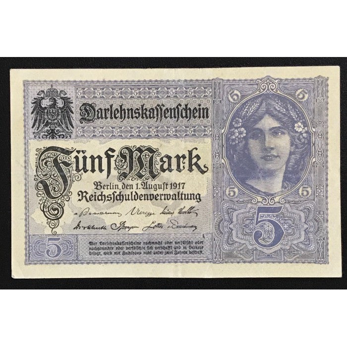 Germany 1917 Darlehnskassenschein 5 Mark