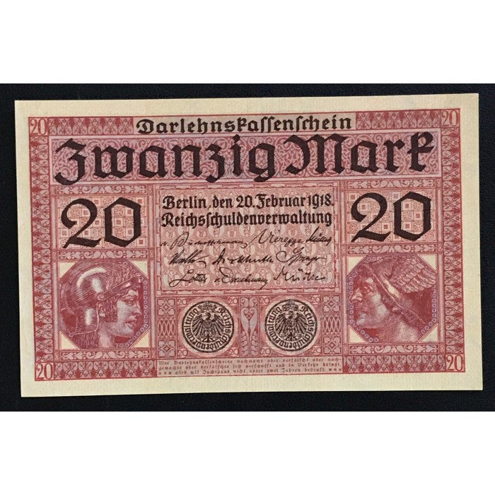 Germany 1918 Darlehnskassenschein 20 Mark