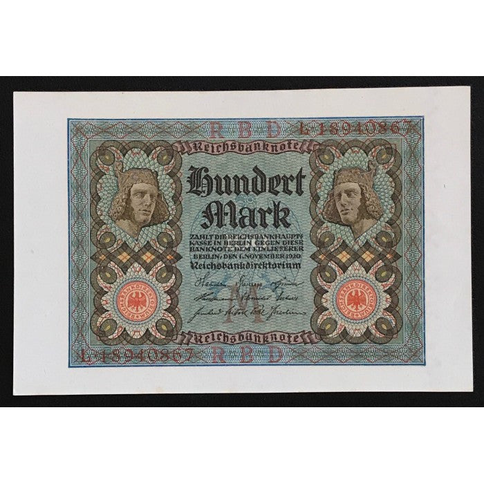 Germany 1920 Reichsbanknote 100 Mark