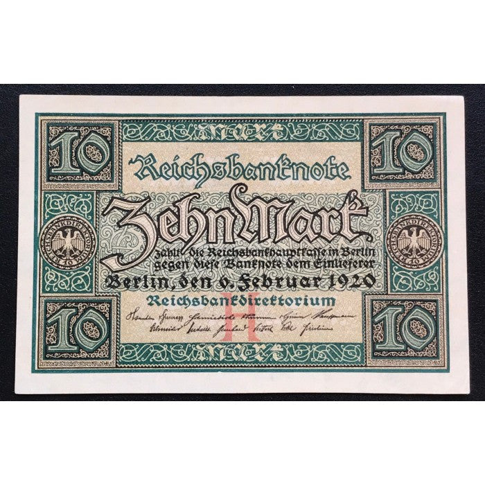 Germany 1920 Reichsbanknote 10 Mark