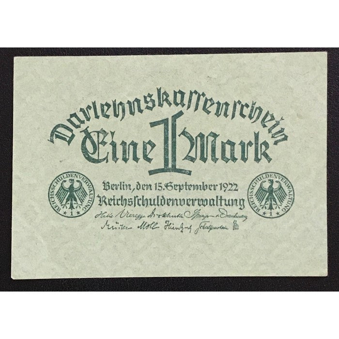 Germany 1922 Darlehnskassenschein 1 Mark