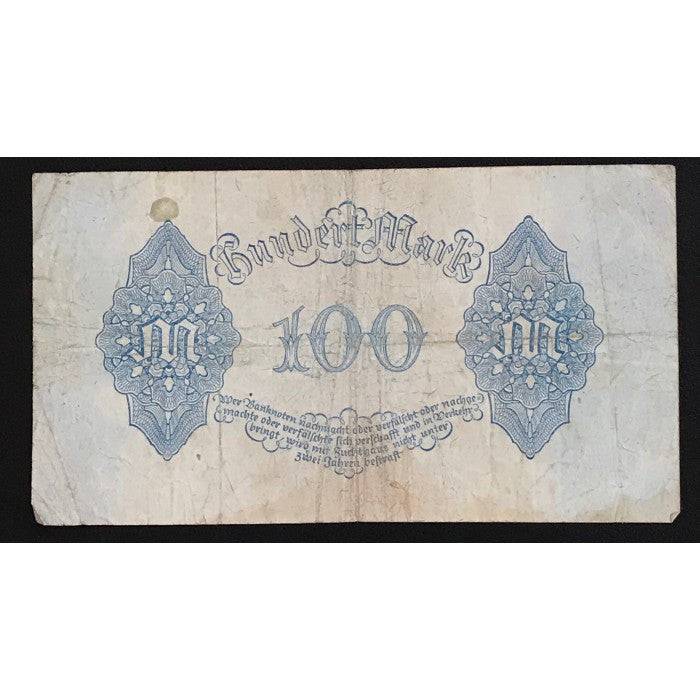 Germany 1922 Reichsbanknote 100 Mark