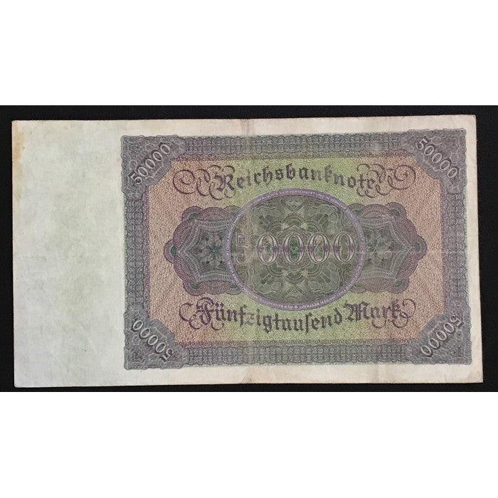 Germany 1922 Reichsbanknote 50,000 Mark