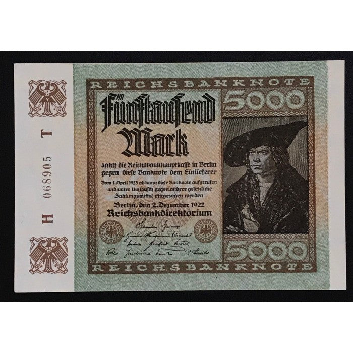 Germany 1922 Reichsbanknote 5000 Mark