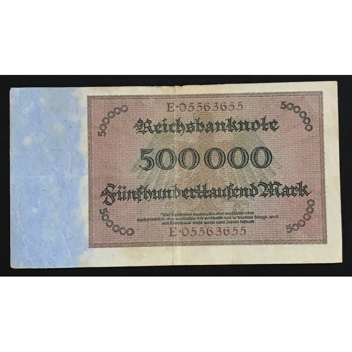 Germany 1923 Reichsbanknote 500,000 Mark