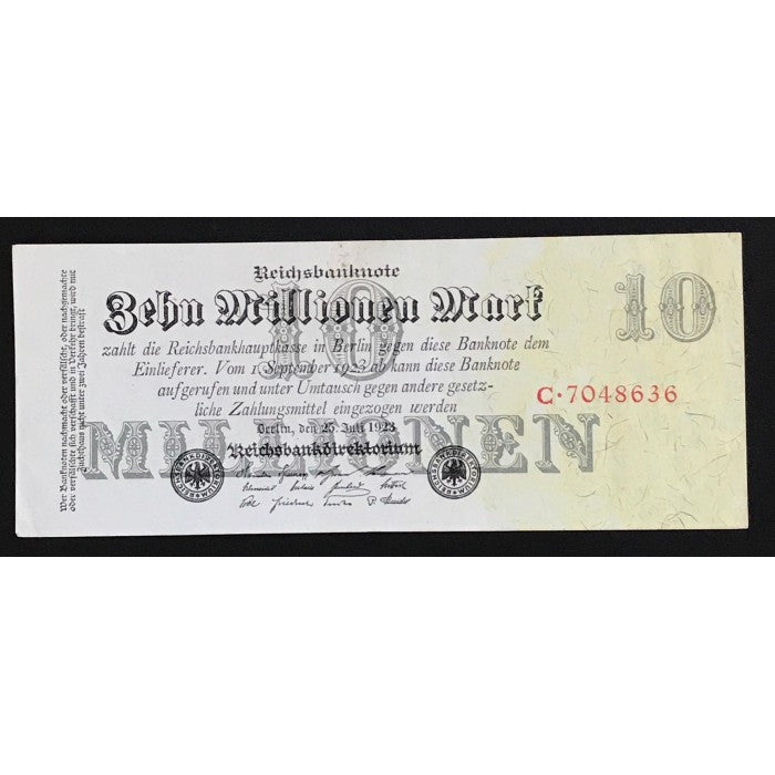 Germany 1923 Reichsbanknote 10 Millionen Mark