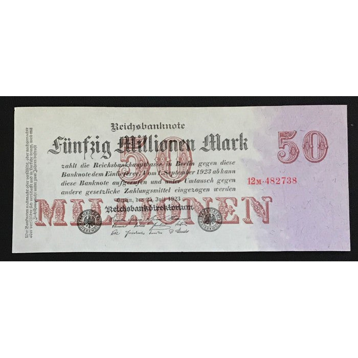 Germany 1923 Reichsbanknote 50 Millionen Mark