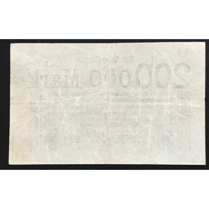 Germany 1923 Reichsbanknote 200,000 Mark