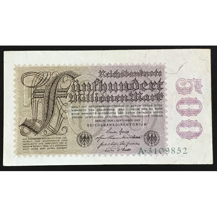 Germany 1923 Reichsbanknote 500 Millionen Mark
