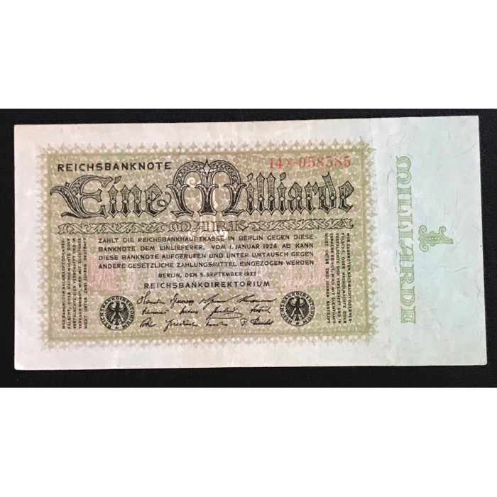 Germany 1923 Reichsbanknote 1 Milliarde Mark