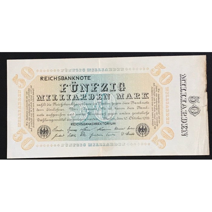 Germany 1923 Reichsbanknote 50 Milliarden Mark