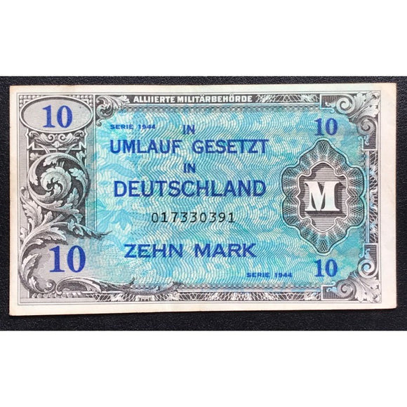 Allied Military Currency WWII - Germany 1944 10 Mark